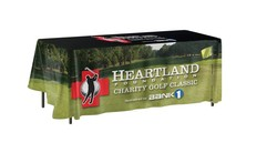 8 ft. Non-Fitted Table Cover Multi-Panel Print, Full Bleed or Custom Fabric Color