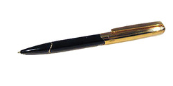 *CLOSEOUT* Infiniti Ballpoint - Black with Gold Appointments