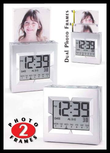 Pop-Up Photo Calendar Alarm Clock - CLOSEOUT ALARM CLOCK