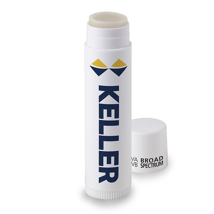 Beeswax Petroleum-free Lip Balm, SPF 15, White Stick