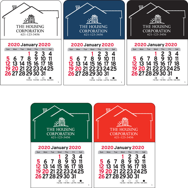 House Vinyl Adhesive Mini Stick Calendar