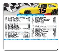 Magnet Sport Schedules - 3.5x4 NASCAR Round Corners - 25 mil.