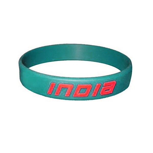 1/2 Inch Embossed Printed Custom Silicone Wristbands