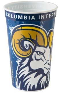22 oz. Classic Smooth Walled Plastic Stadium Cup with our RealColor360 Imprint