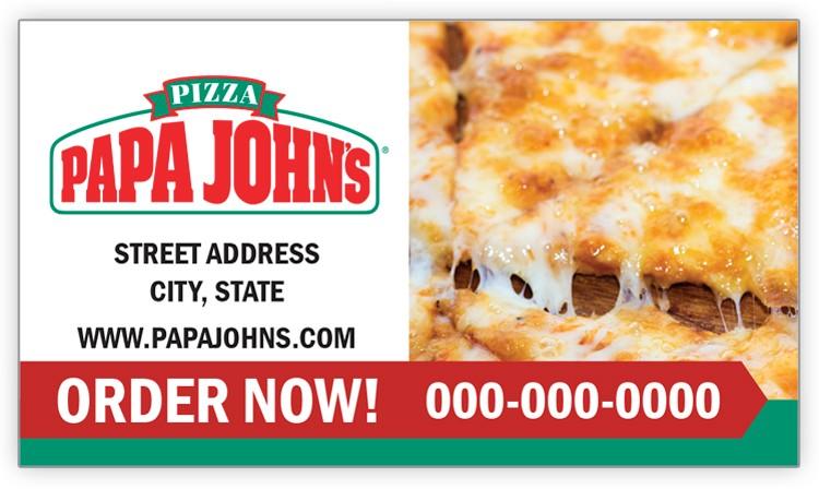 Papa John's Cheese Pizza Magnet