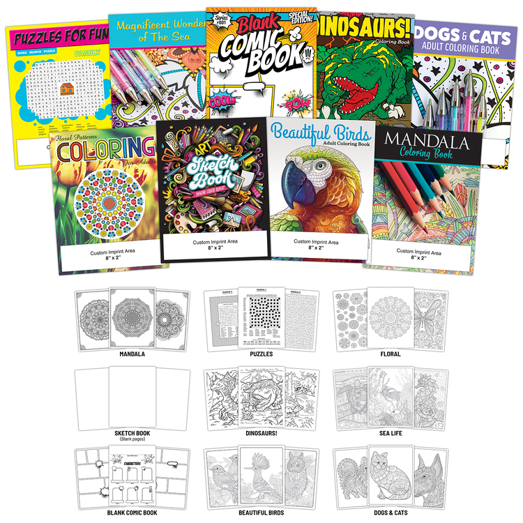 Activity Coloring Book - 8.5x11 - (12-Page Custom)