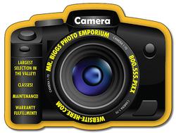 Magnet - Digital Camera Shape (3.5625x2.7) - 20 Mil.