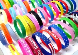 Silicone bracelets / wristbands