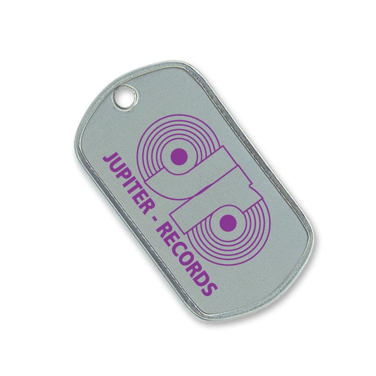 Stainless Steel Dog Tag, Single Color Imprint Front