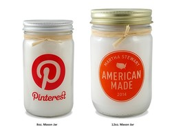 12 oz. Mason Jar Candle with Lid and Raffia Tie