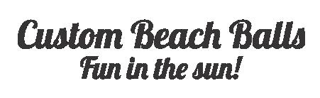 Custom Beach Balls Logo Text