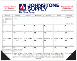 Desk Blotter Calendar w/Leatherette Corners