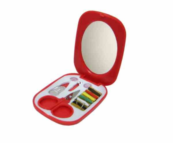 Sewing Kit with Mirror and Scissors
