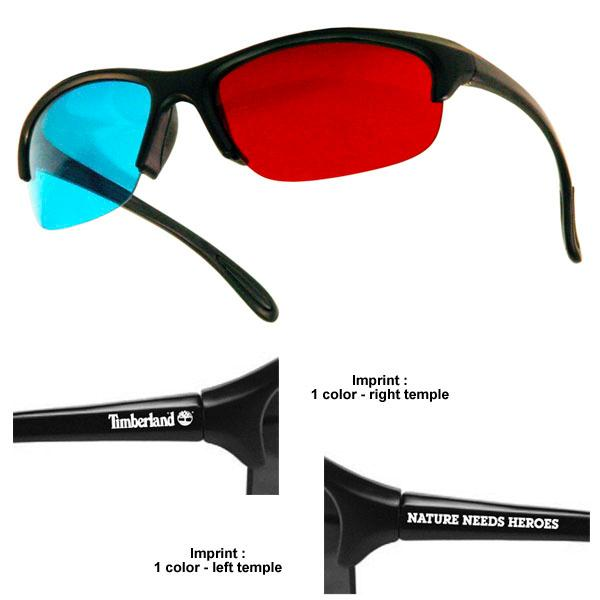 3D Glasses - Plastic Pro-X - Red/Cyan Lenses - Custom Imprint