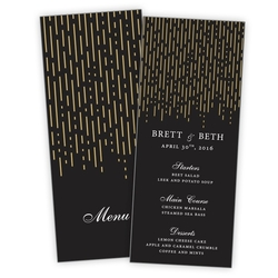 Wedding Menu Card Flat - 3.5x8.5