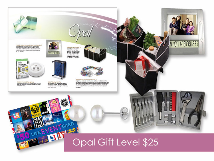 $25 Gift of Choice (Opal Level) Gift Booklet