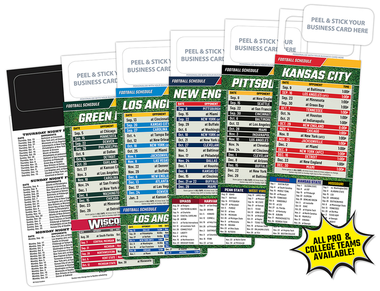 M.B.C. Sport Schedules - Pro Football (3.5x9)
