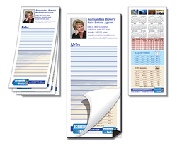 Scratch Pad / Notepad with Magnetic Backer - Custom 25-Sheets (3.5x8)