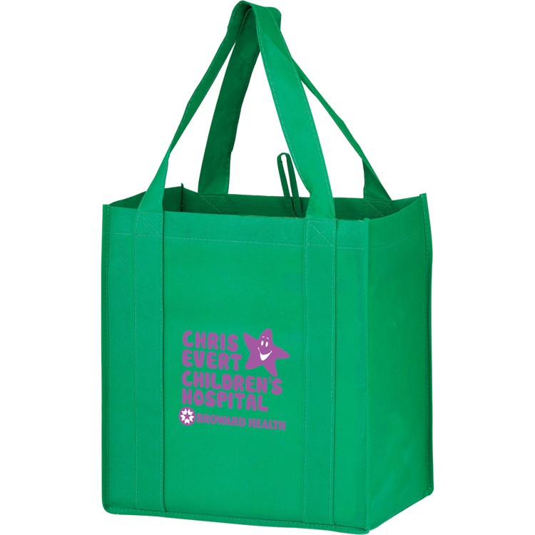 Non-woven Polypropylene Grocery Tote - Y2KG12813 - Silk Screened
