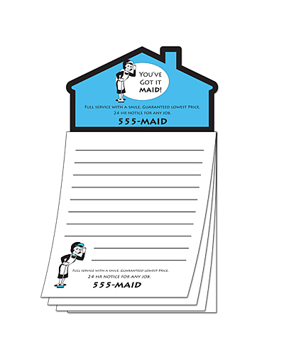 Custom Magna-Pad - 3.5x6.25 50-Sheet with House Shape Magnet