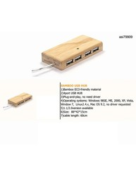 iBank(R) Bamboo USB Hub, Custom Bamboo Products, Eco-Friendly