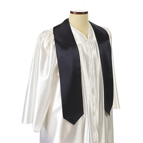 Navy Blue Polyester Satin Graduation Sash / Stole
