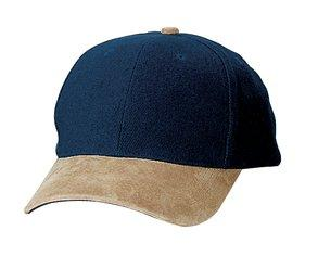 Port Authority - Two-Tone Brushed Twill Cap with Suede Visor.