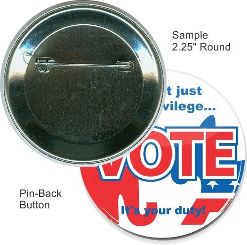 Pin-back 2 1/4 Inch Round Button