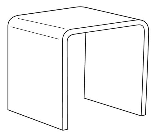 Standard Acrylic Riser - 3x3x3