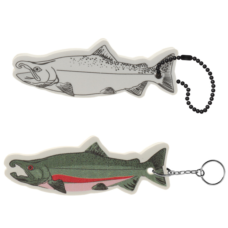 Salmon Floating Key Tag - Salmon Floating Key Tag