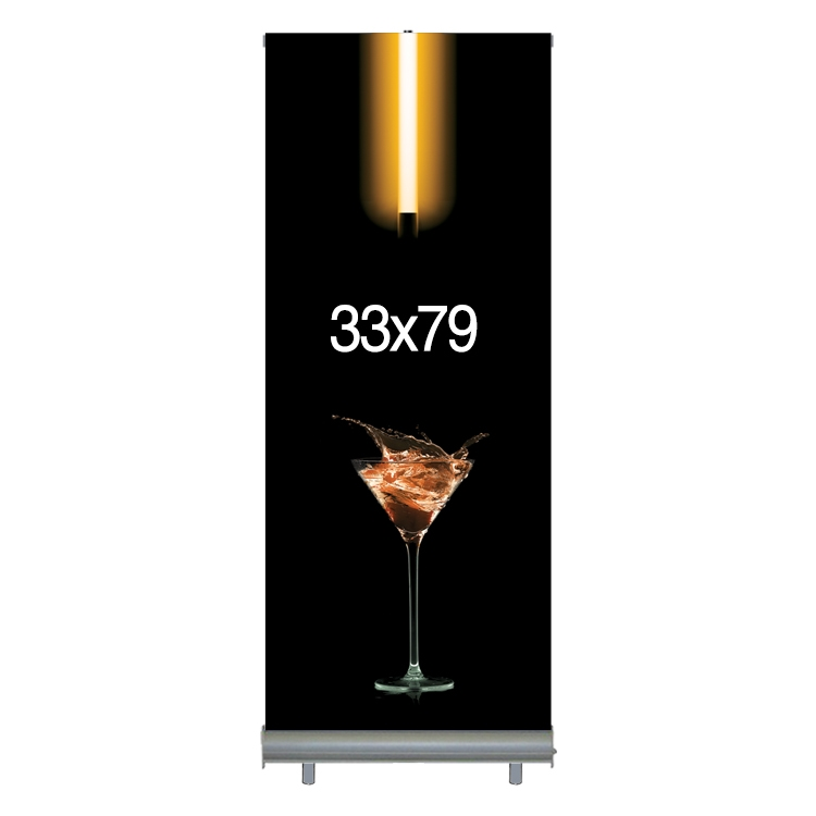 33W x 79H Retractable Banner & StandSet -- Economy Model - Supreme Fabric