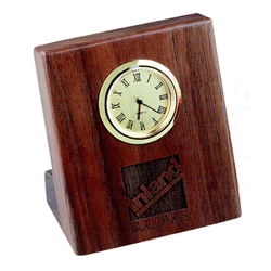 Wood Desk Easel Clock