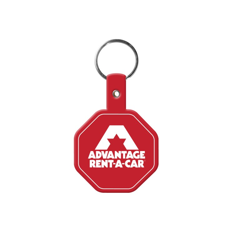 Stop Sign Flexible Key-Tag