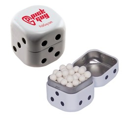Dice Mint Tin with Signature Peppermints