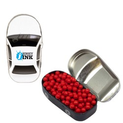 Car Mint Tin with Colored Candy