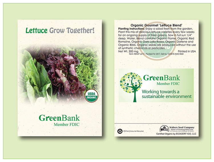 Organic Lettuce 'Gourmet Blend' Seed Packet - Imprinted Seed Packet