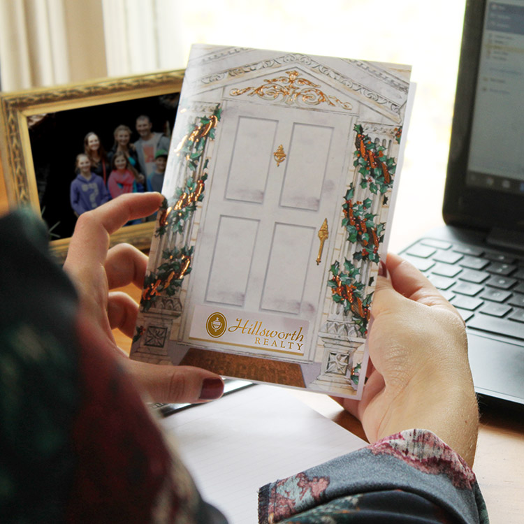 Realtor client Christmas card case study