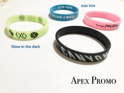 0.5 inch Adults / Kids Size Silicone Bracelet/ Wristband