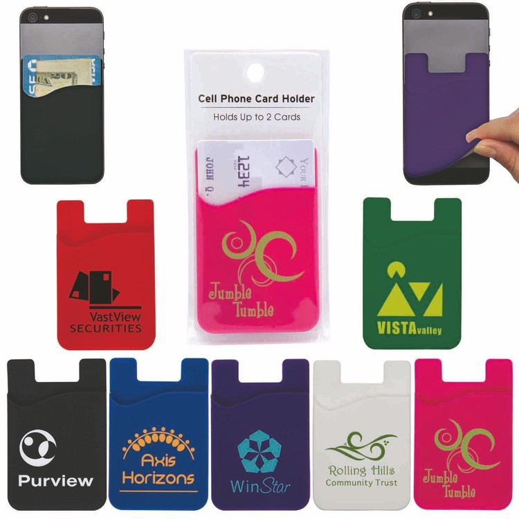 Cell Phone Card Holder with Packaging and Instructions