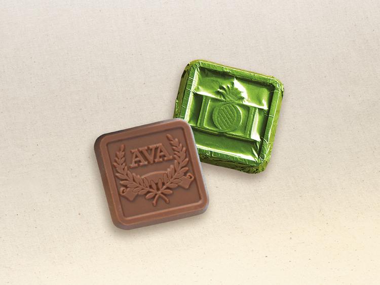 Custom Chocolate Foiled Square