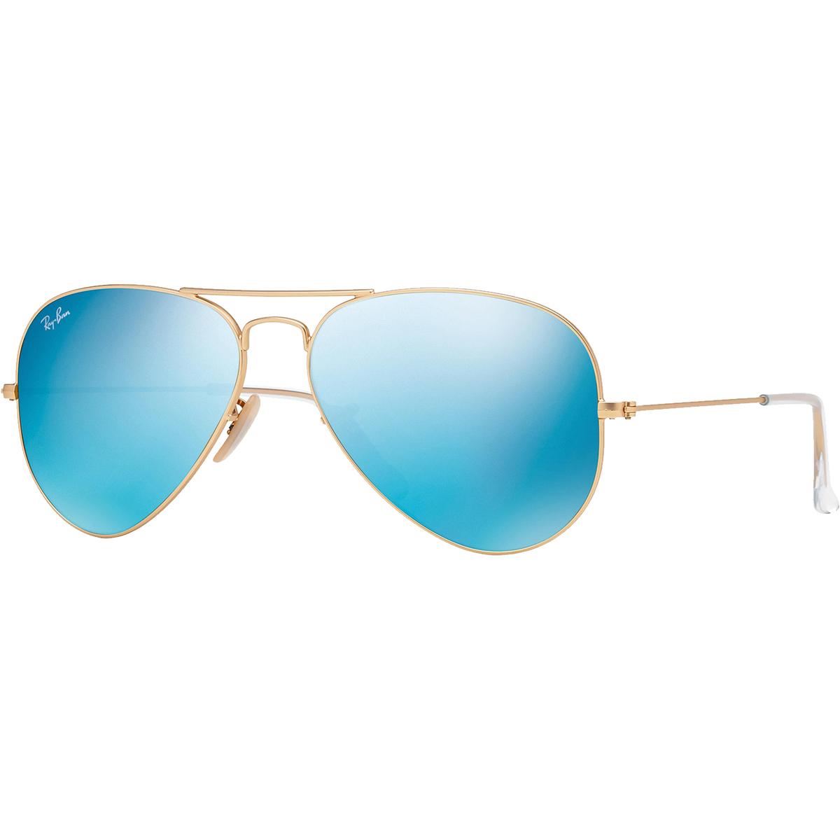 2358db611e3c1 Ray-Ban Aviator Sunglasses - Gold Blue Flash Lenses - 0RB30251121758 ...