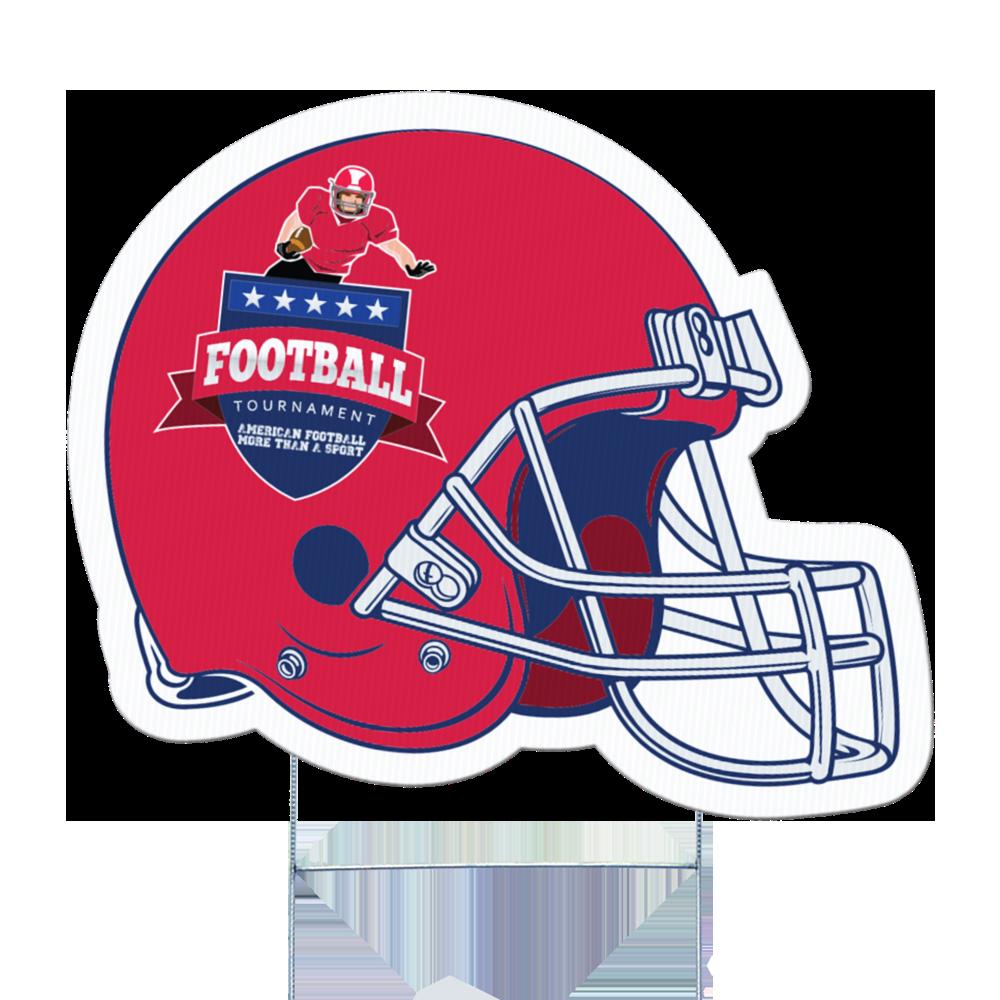 Football Helmet Full Color Yard Sign