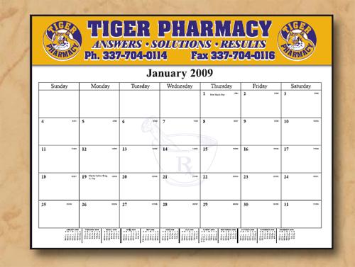 The Executive Line Desk Calendar