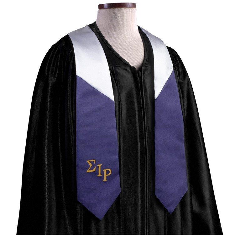 5 x 72 Custom Wet Dyed Polyester Graduation Sash / Stole