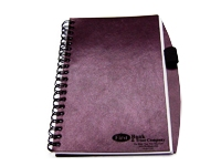 *CLOSEOUT* Tan Bonded Leather note pad with pen holder
