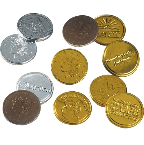 Stock Chocolate Coins