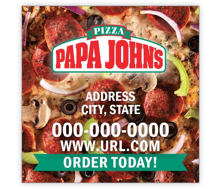Papa John's 2x2 Keeper Magnet - Combo