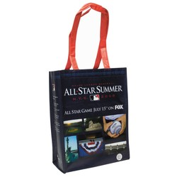 11 W x 14 H - 100GSM Non-Woven Small Full Color Laminated Wrap Carry All Tote