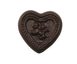 CHOCOLATE HEART WITH CUPID