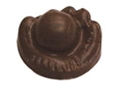 CHOCOLATE BASEBALL MITT W/BALL